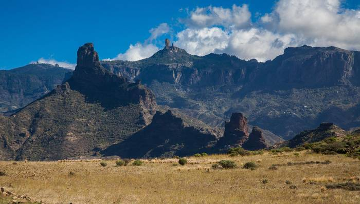 Roque Bentayga in first term and Roque Nublo in the background shutterstock_1253485666.jpg