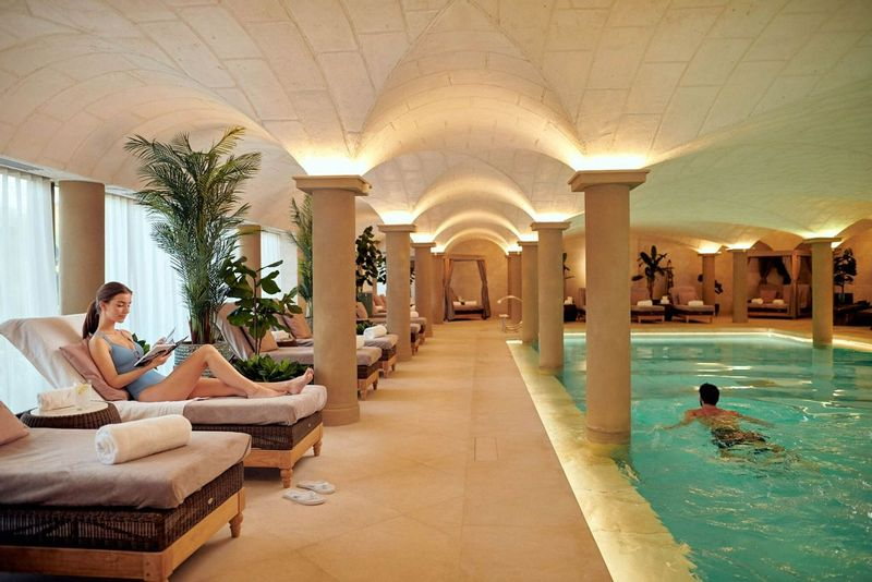 Indoor luxurious swimming pool at Grantley