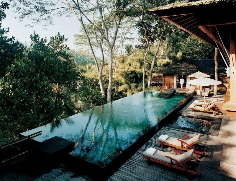 Infinity pool view at COMO Shambhala Estate