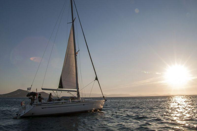 Sailing tour boat around Greece