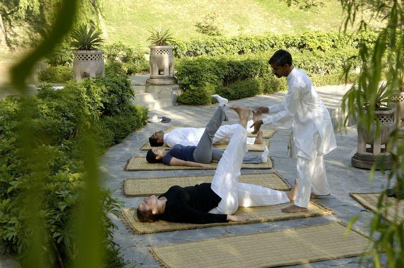 Ananda Amphitheatre yoga