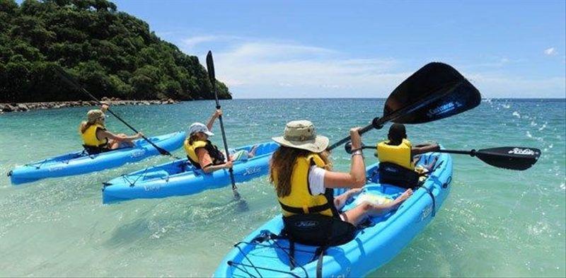 Kayaking at Buccament Bay