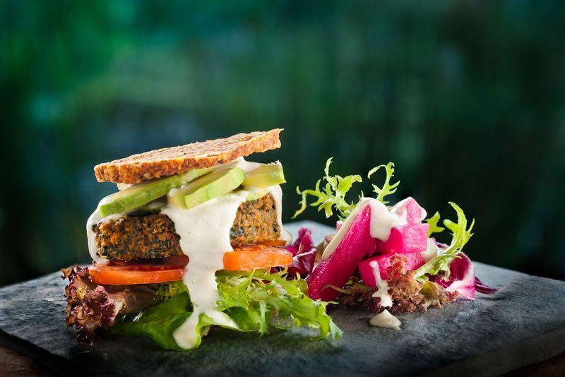 Healthy plant-based burger