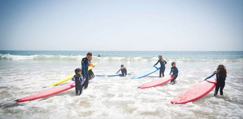 Surfing on holiday at Paradis Plage in Morocco