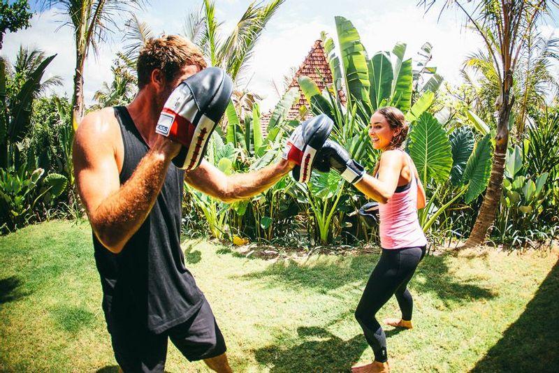 Boxing at Komune, Bali