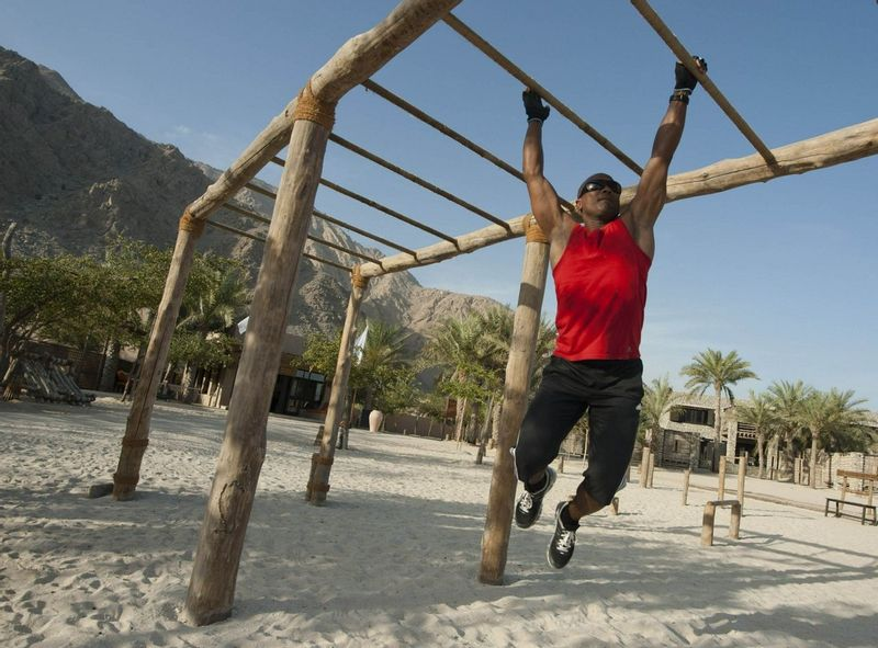 Jungle gym at Zighy Bay