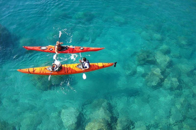 Kayaking on a family holiday