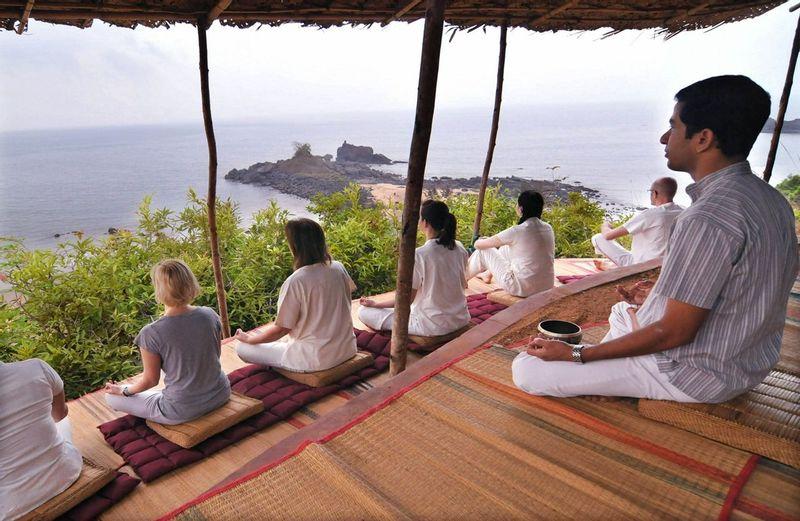 Yoga at viewpoint